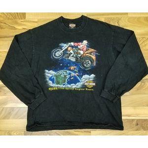 Vintage Santa Harley Davidson Long Sleeve Shirt.